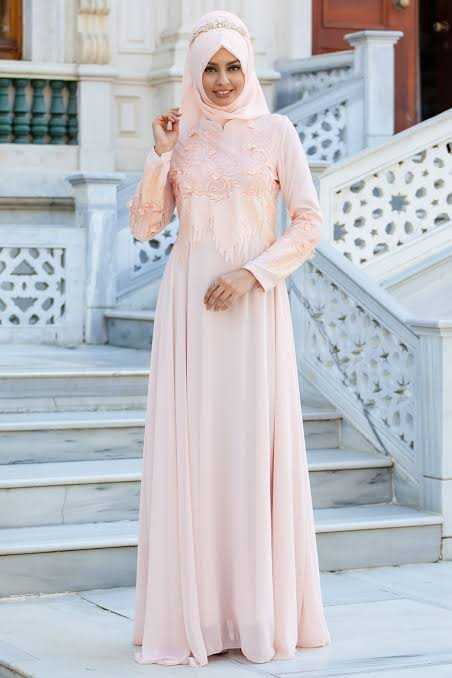 Sedanur Pul Payetli Tesettür Abiye Elbise Modelleri