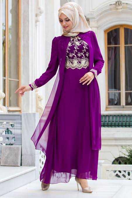 Sedanur Tesettür Kolyeli Abiye Elbise Modelleri