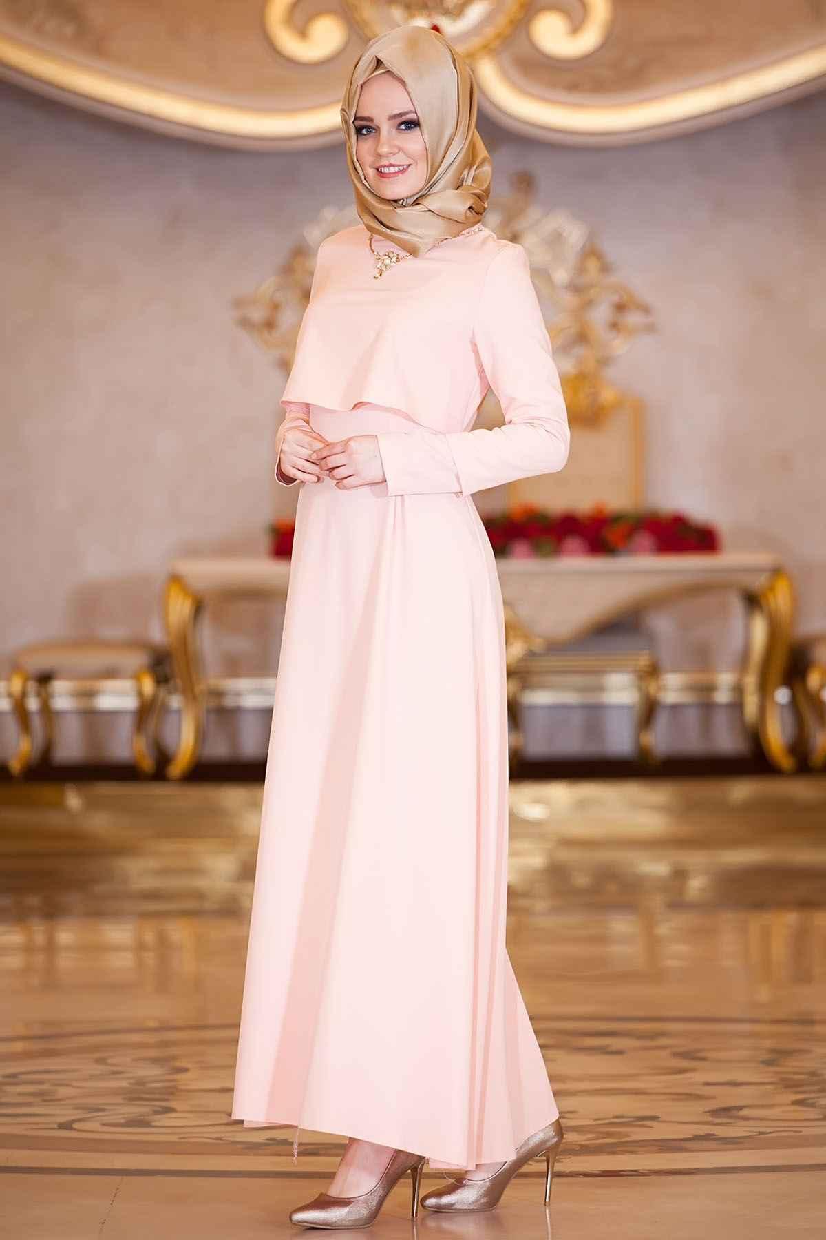 Sedanur Tesettür Somon Renk Kıyafet Modası