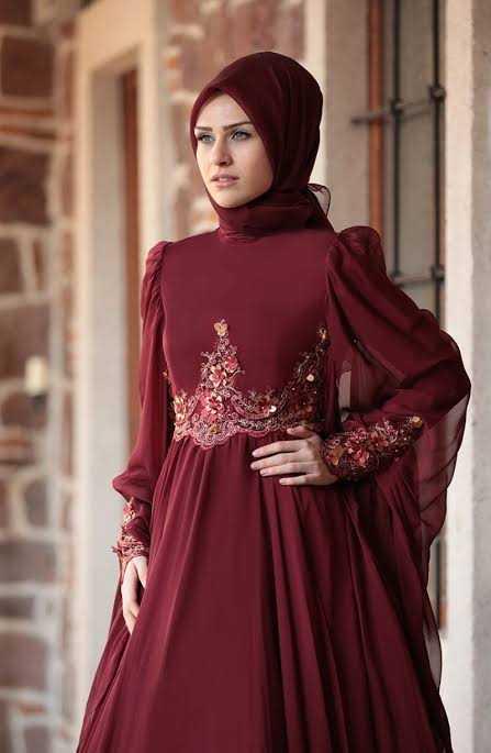 Sefamerve Pelerinli Tesettür Abiye Elbise Modelleri