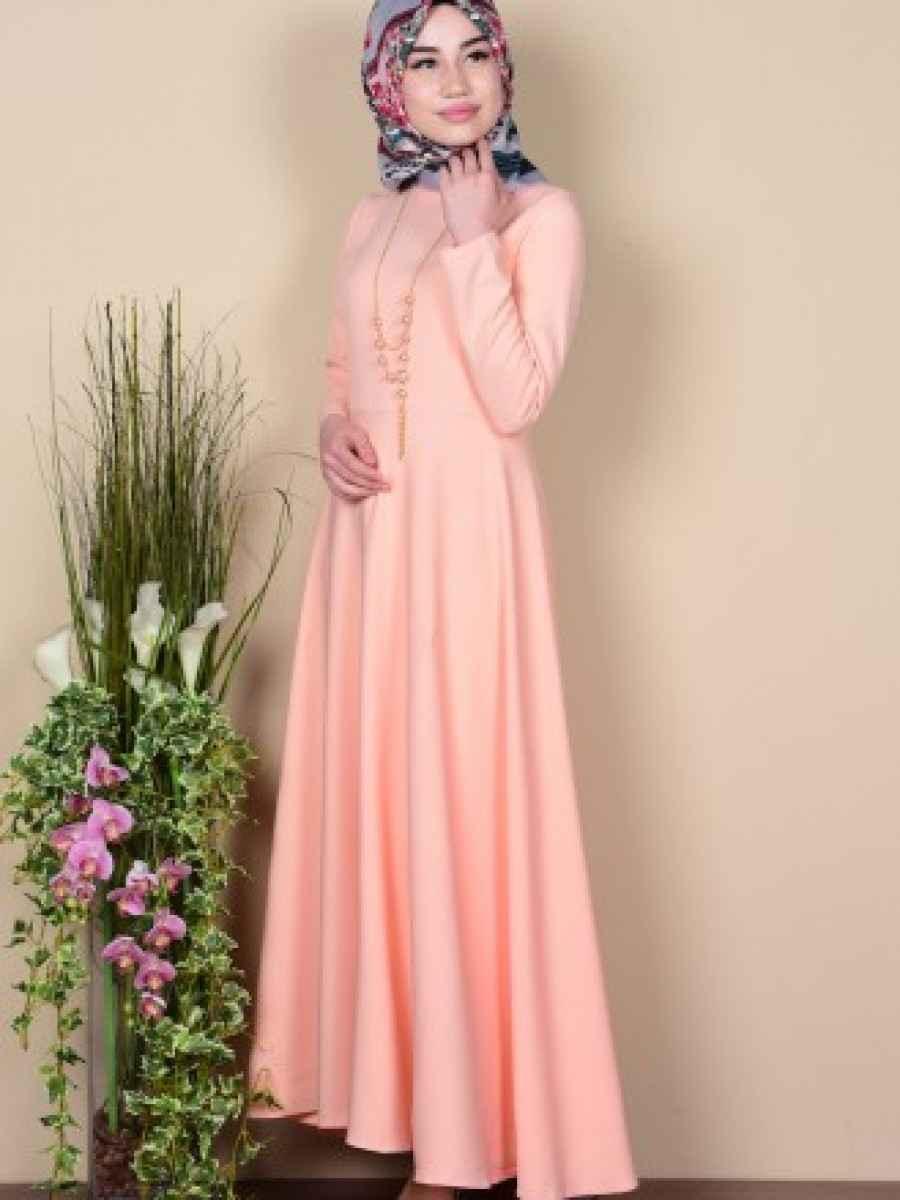 Sefamerve Tesettür Somon Renk Kıyafet Modası