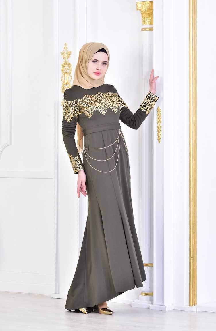 Sefamerve Varaklı Tesettür Abiye Elbise Modelleri