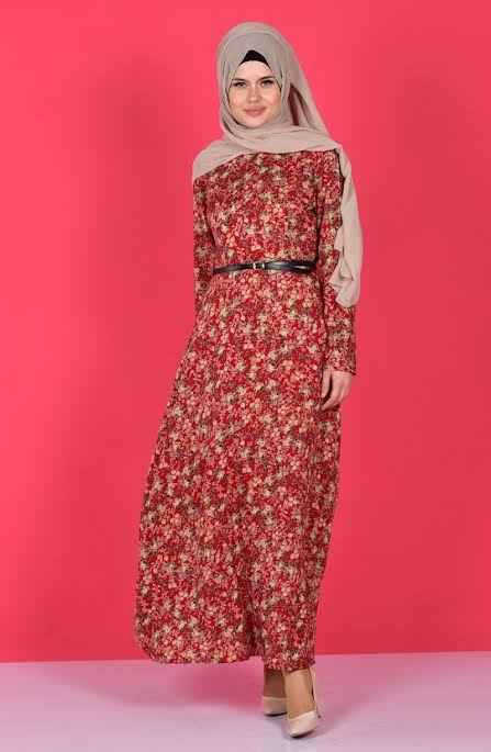 Sefamerve Viskon Tesettür Elbise Modelleri