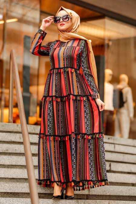 Tesettür İsland Günlük Elbise Modelleri