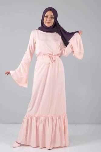 Tesettür Dünyası Somon Renk Kıyafet Modası