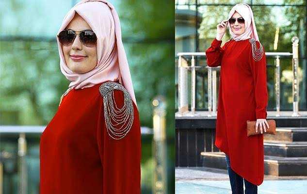Tesettür Kırmızı Renk Modası