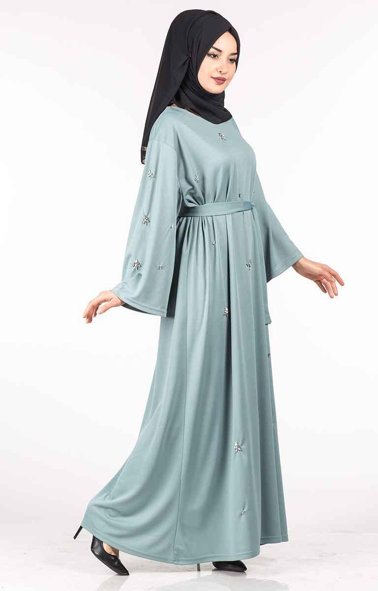 Tesettür Pazarı Kuşaklı Elbise Modelleri