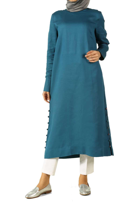 Allday Mavi Renk Tesettür Tunik Modelleri