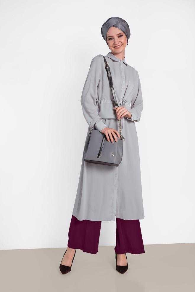 Alvina Büzgülü Tesettür Tunik Modelleri