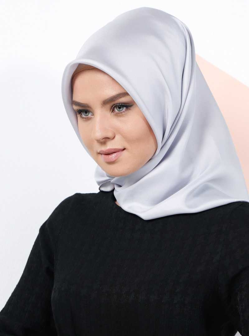 Armine Düz Renkli Gri Eşarp Modelleri