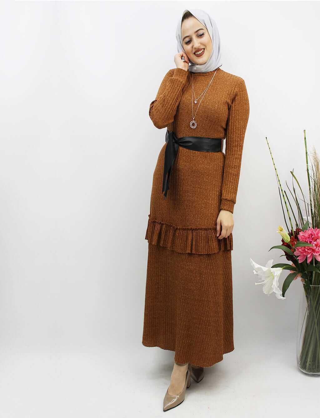 END Fitilli Tesettür Elbise Modelleri