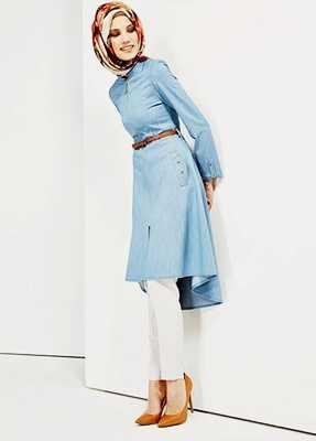 En Güzel Mavi Renk Tunik Modelleri