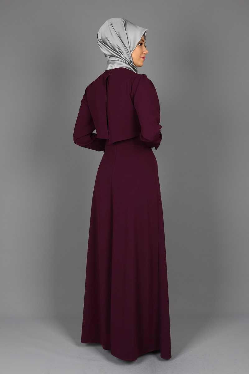 Eymina Tesettür Katlı Elbise Modelleri
