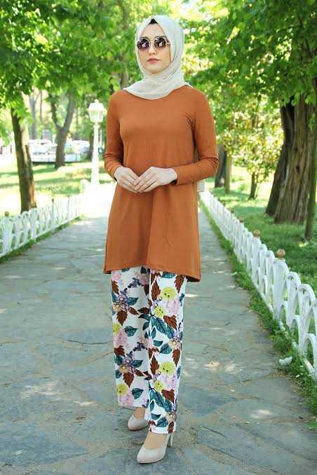 Feiza Collection Desenli Tesettür Takım Modelleri