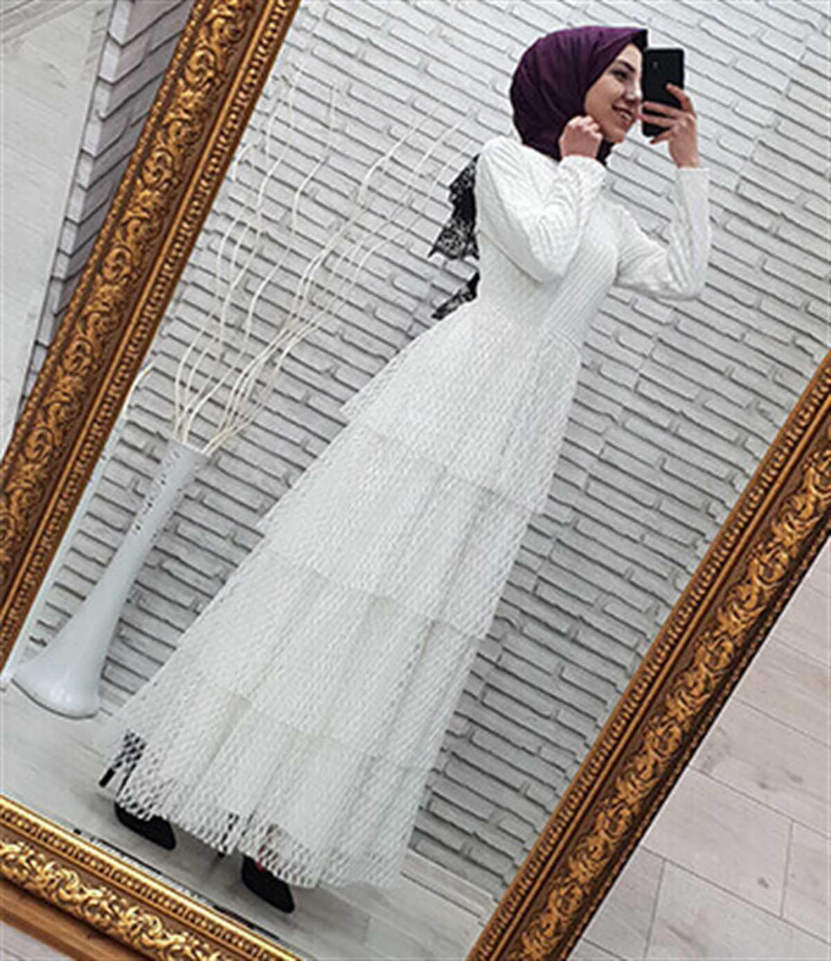 Kıyafetdünyam Katlı Tesettür Elbise Modelleri