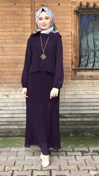Kamil Keskin Çift Katlı Tesettür Elbise Modelleri