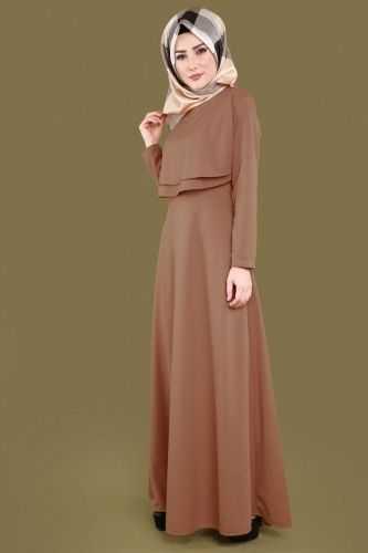Moda Selvim Katlı Tesettür Elbise Modelleri