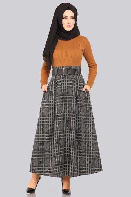 ModaSelvim Sonbahar Kış Tesettür Etek Modası