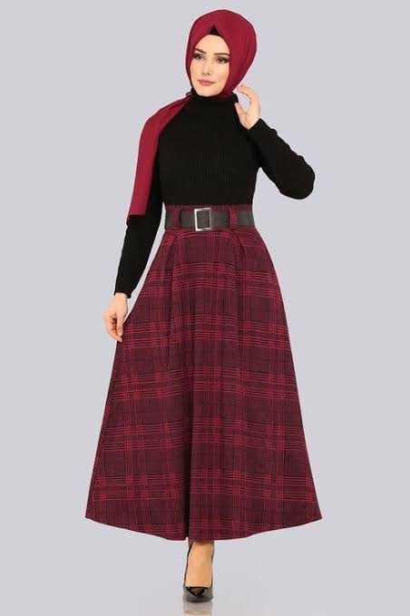 ModaSelvim Sonbahar Kış Tesettür Etek Modelleri