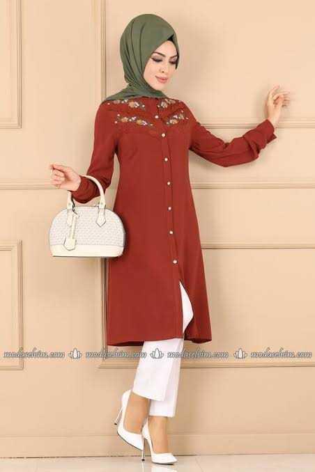 ModaSelvim Sonbahar Kış Tesettür Tunik Modası