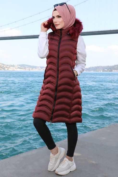 ModaSelvim Sonbahar Kış Tesettür Yelek Modası