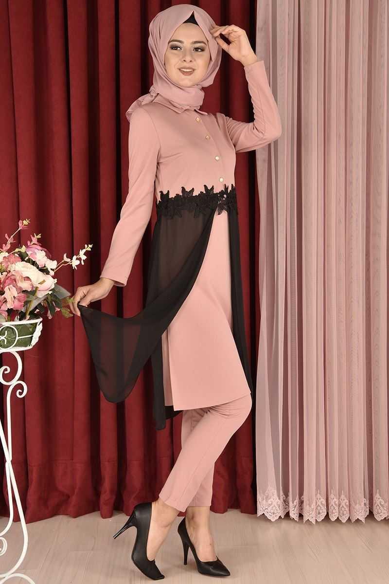 Modamerve Özel Gün Şifon Tunik Modelleri
