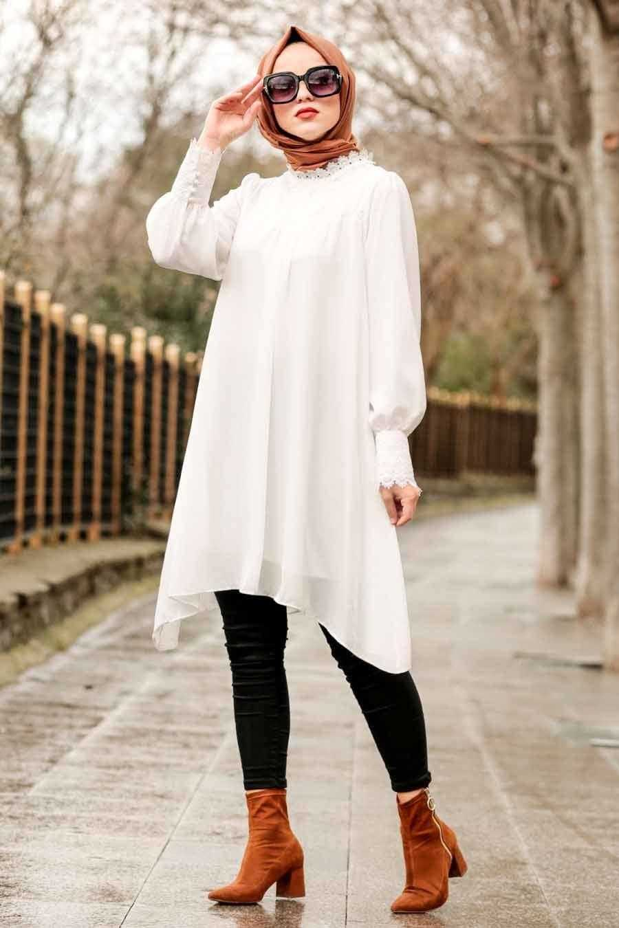 Nayla Collection Dantelli Tesettür Tunik Modelleri