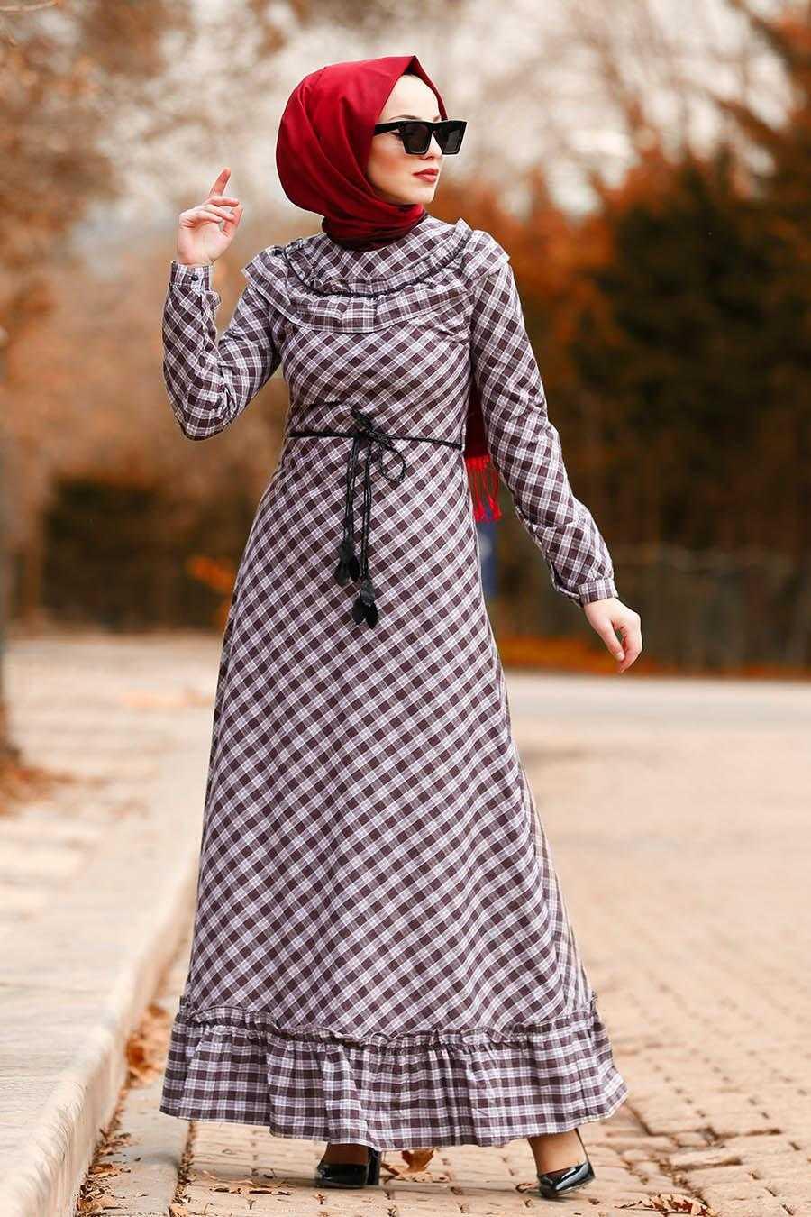 Nayla Collection Sonbahar Kış Tesettür Elbise Modası