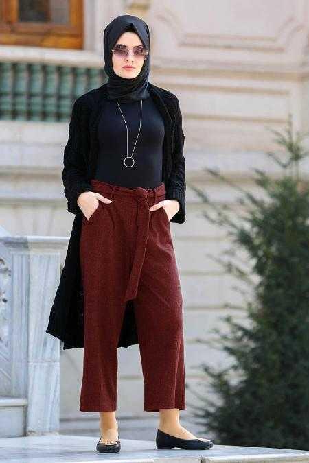 Neva Style Bol Paça Tesettür Pantolon Modelleri
