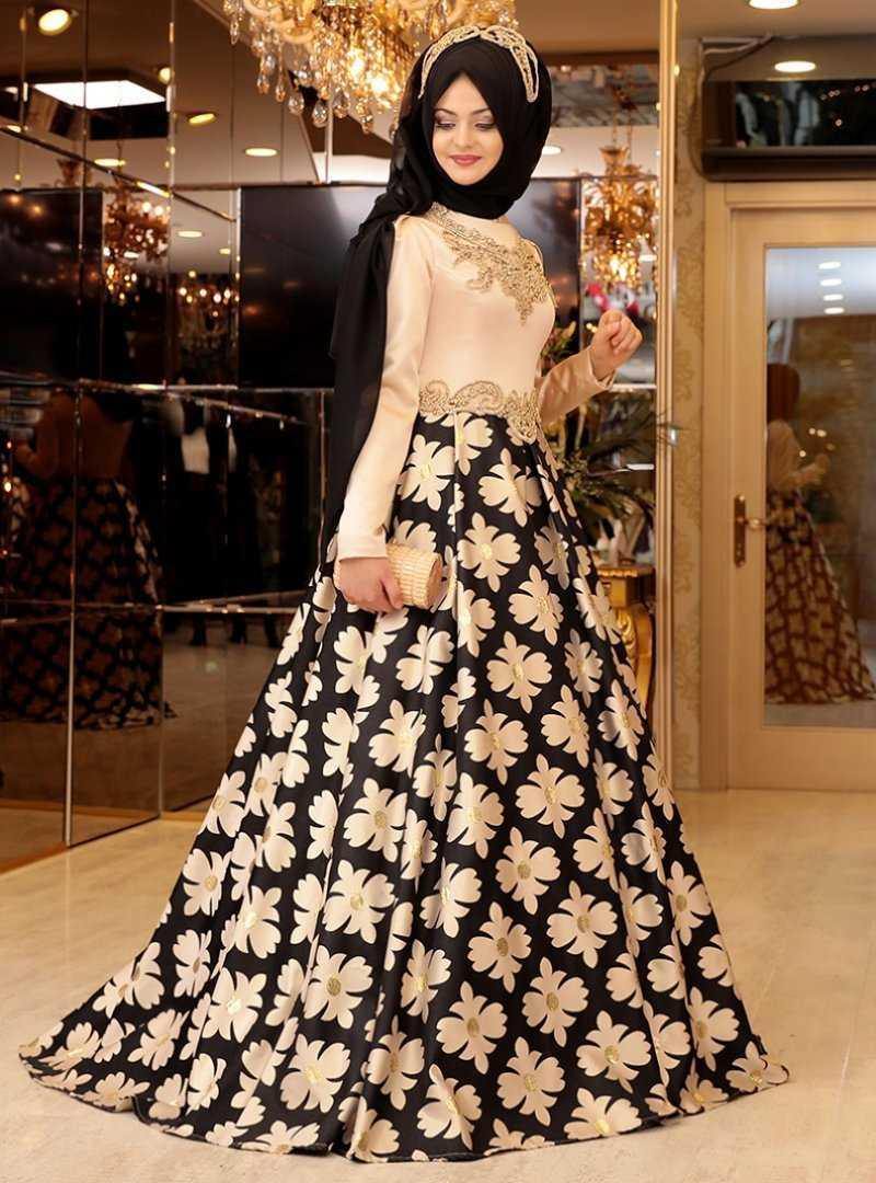 Pınar Şems Çiçekli Abiye Elbise Modelleri