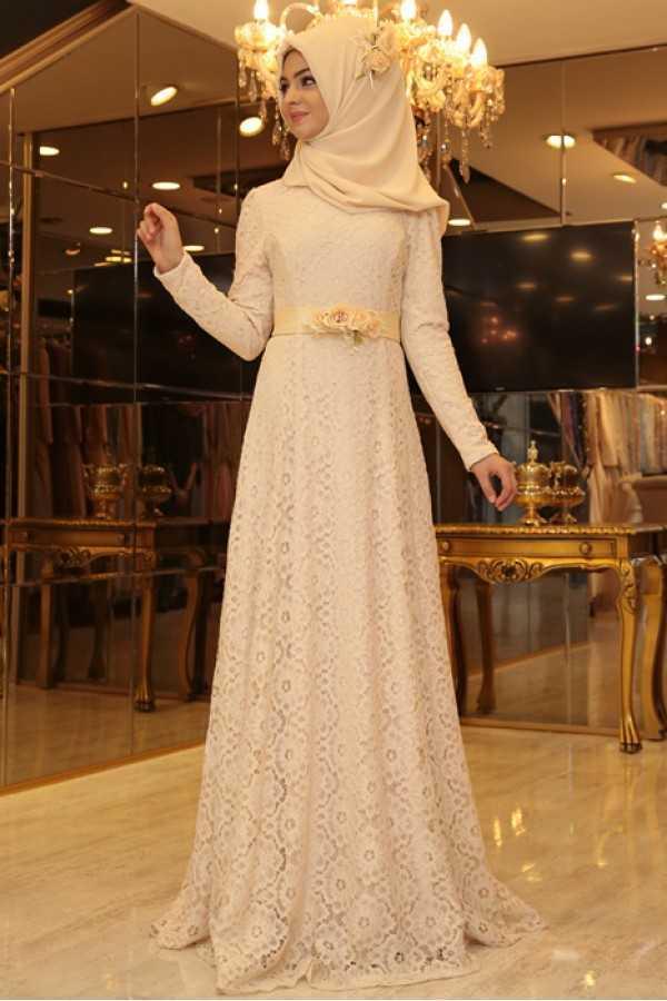 Pınar Şems Dantelli Abiye Elbise Modelleri