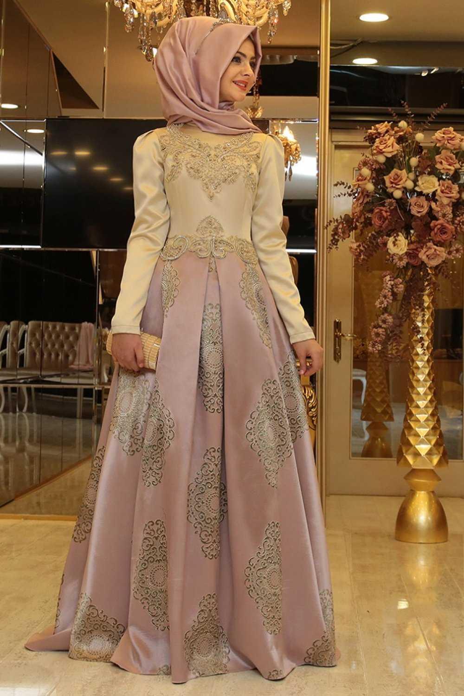 Pınar Şems Pudra Abiye Elbise Modelleri
