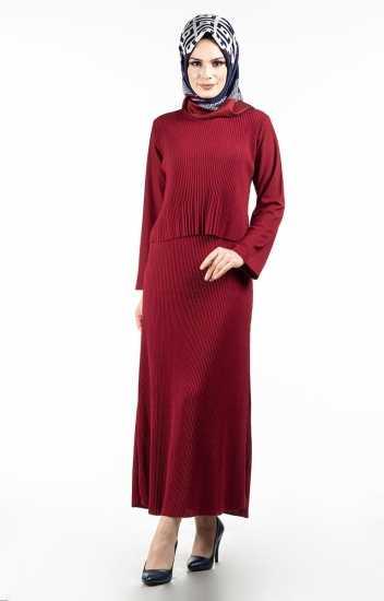 Tesettür Pazarı Fitilli Elbise Modelleri