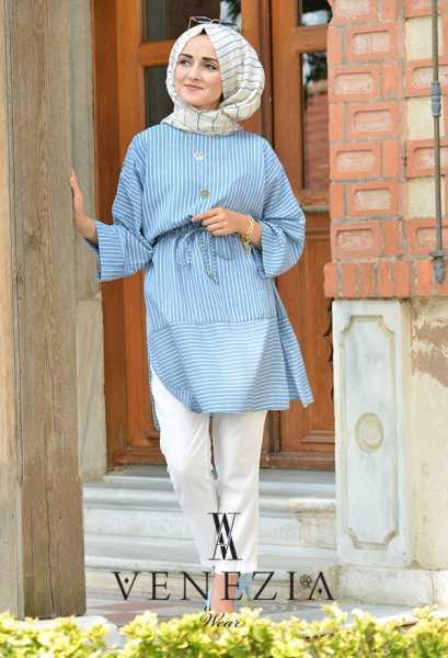 Venezia Mavi Renk Tunik Modelleri