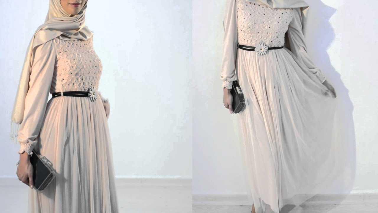 Şık ve Güzel Özel Gün Tesettür Elbise Modelleri