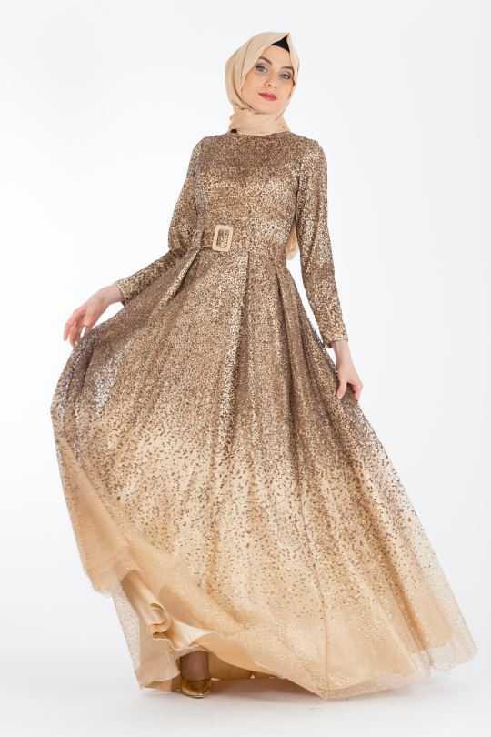 Şık ve Modern Armine Tesettür Abiye Elbise Modelleri