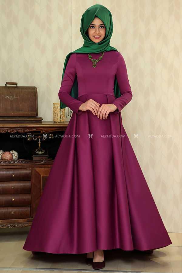 Alyadua Tesettür Kuyruklu Abiye Elbise Modelleri