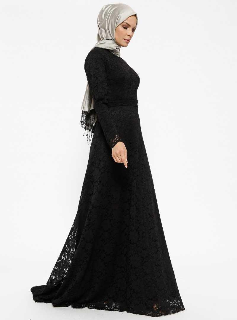 Armine Güpür Dantelli Tesettür Abiye Elbise Modelleri