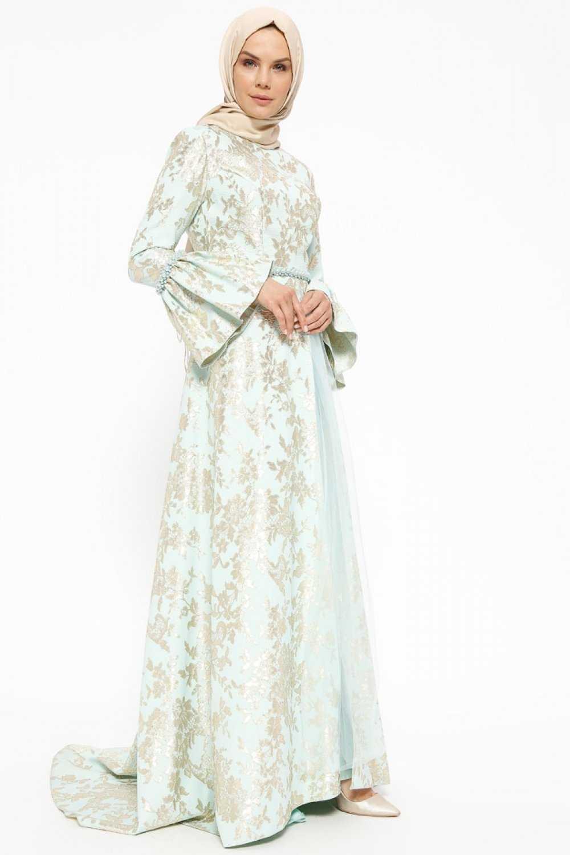 Armine Jakarlı Tesettür Abiye Elbise Modelleri