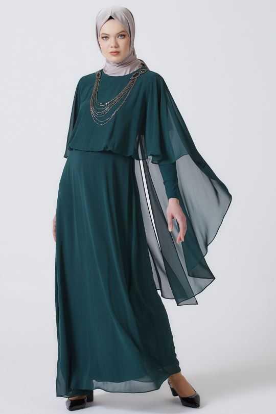 Armine Tesettür Kolyeli Abiye Elbise Modelleri