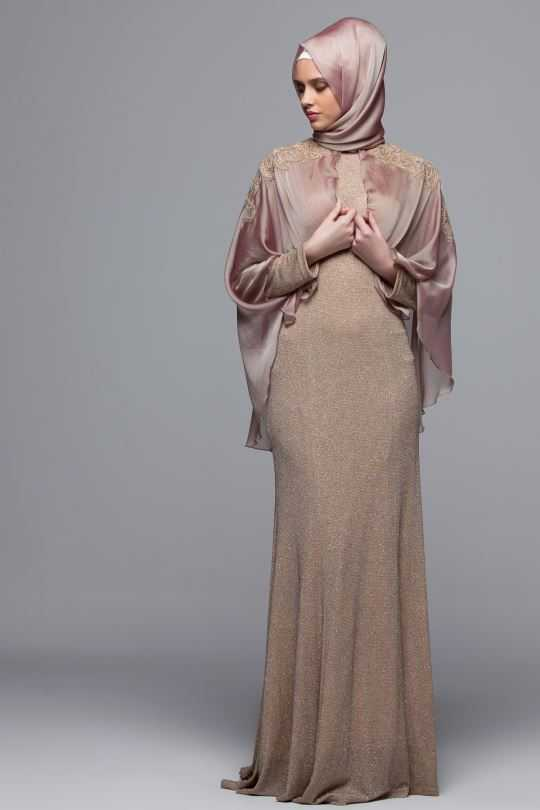 Armine Tesettür Pelerinli Abiye Elbise Modelleri
