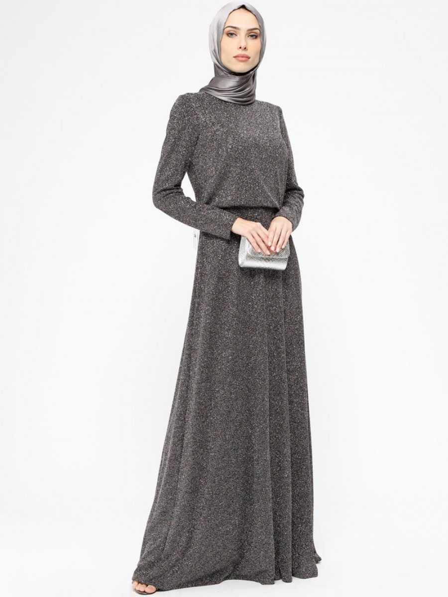Armine Tesettür Simli Abiye Elbise Modelleri
