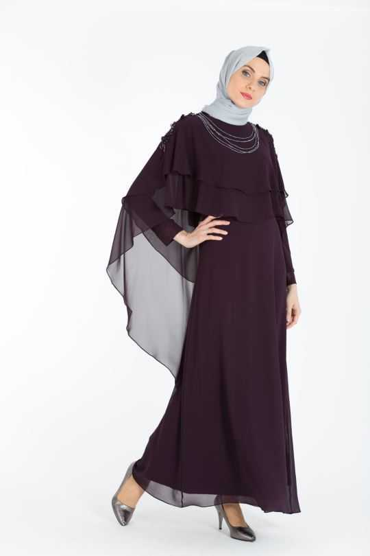 Armine Tesettür Tüllü Abiye Elbise Modelleri