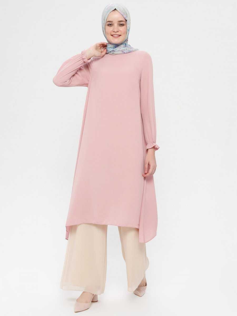 Beha Tesettür Pudra Renk Tunik Modelleri