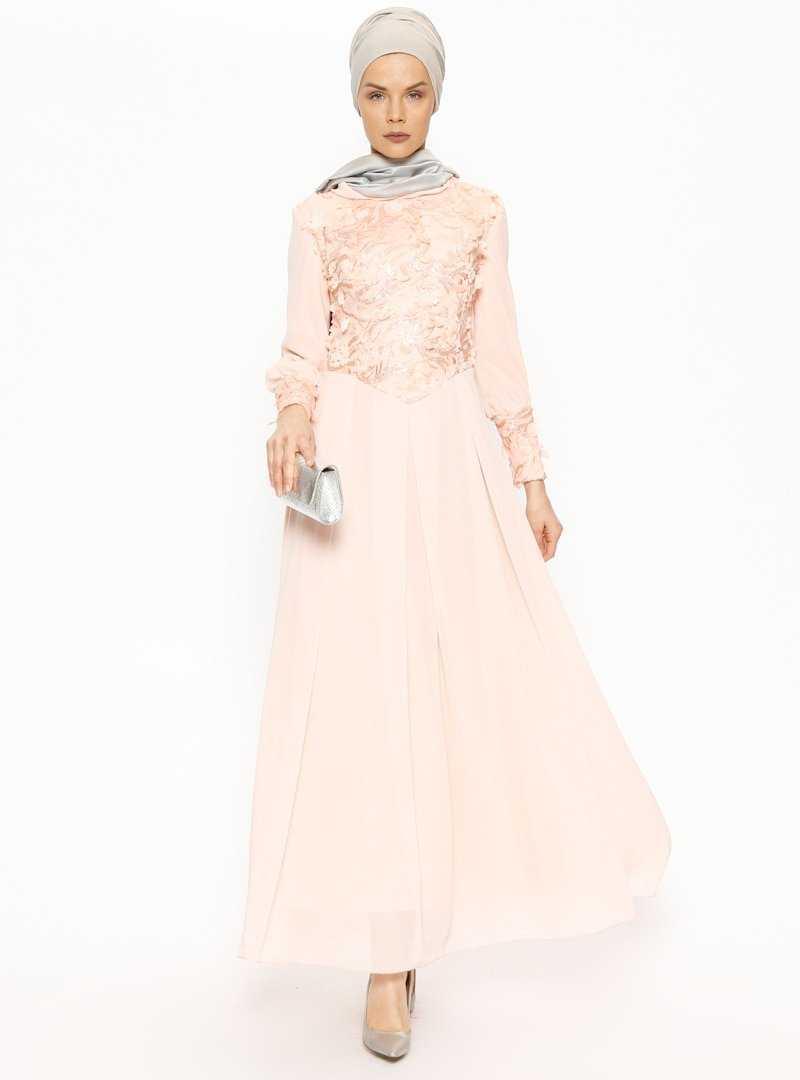 Butik Neşe Üç Boyutlu Tesettür Abiye Elbise Modelleri