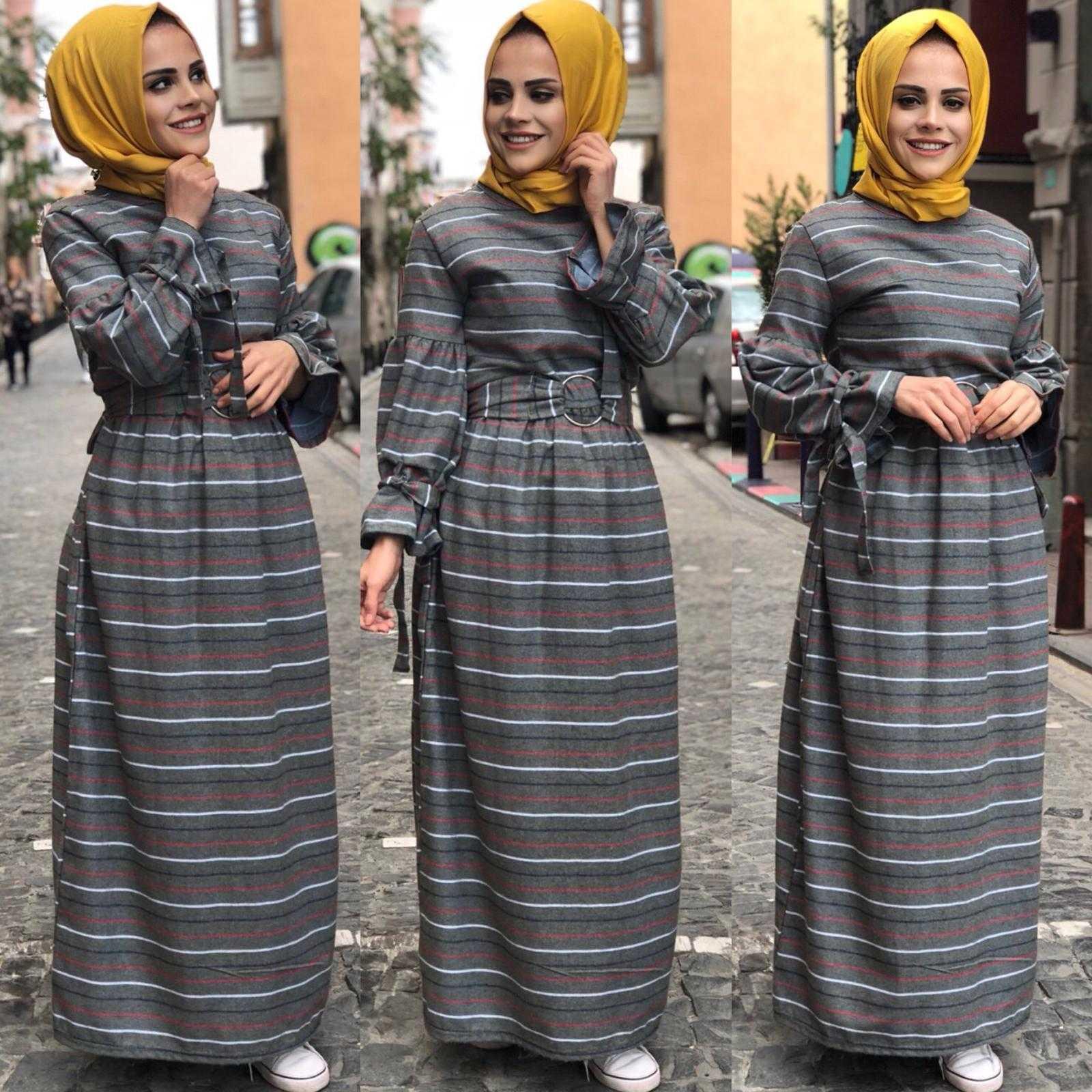 Elfida Tesettür Kışlık Kaşmir Elbise Modelleri