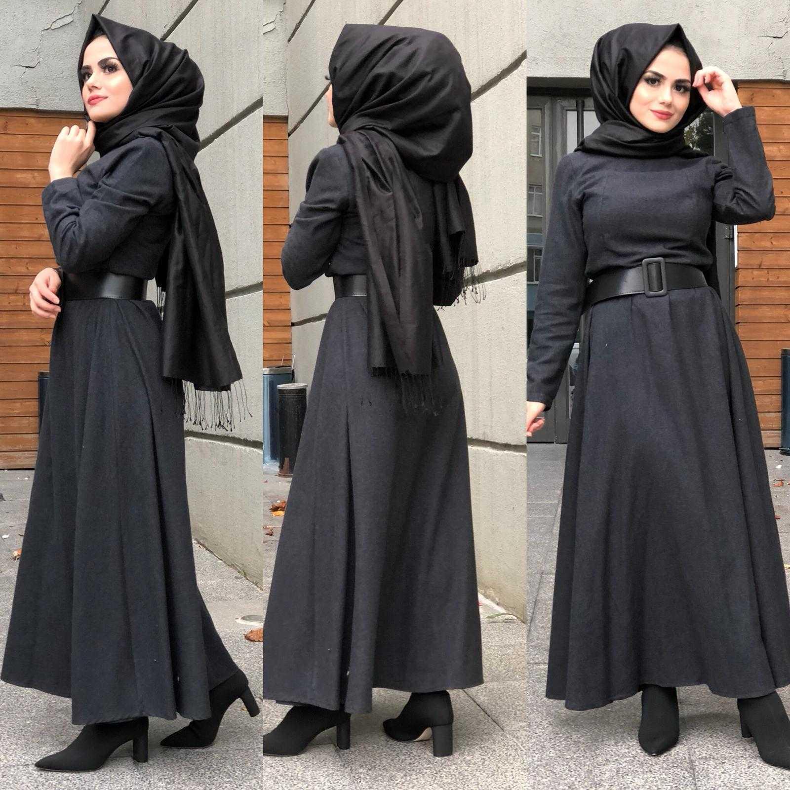Tesettür Kaşmir Elbise Modelleri