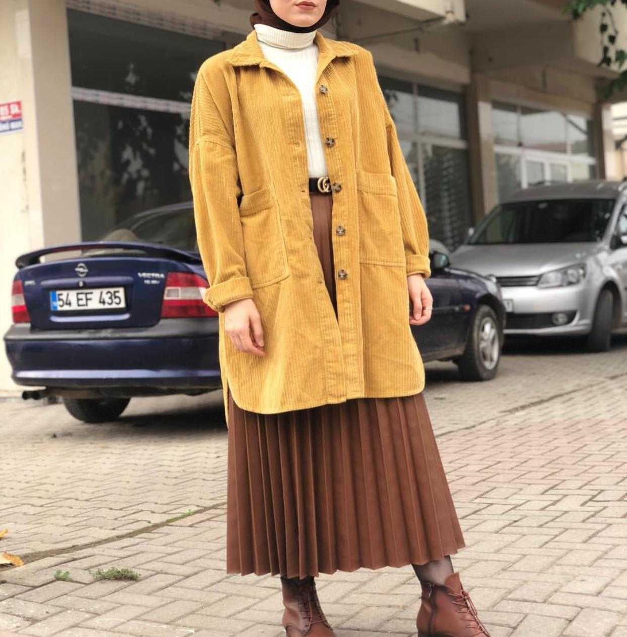 Elfida Tesettür Kadife Ceket Modelleri
