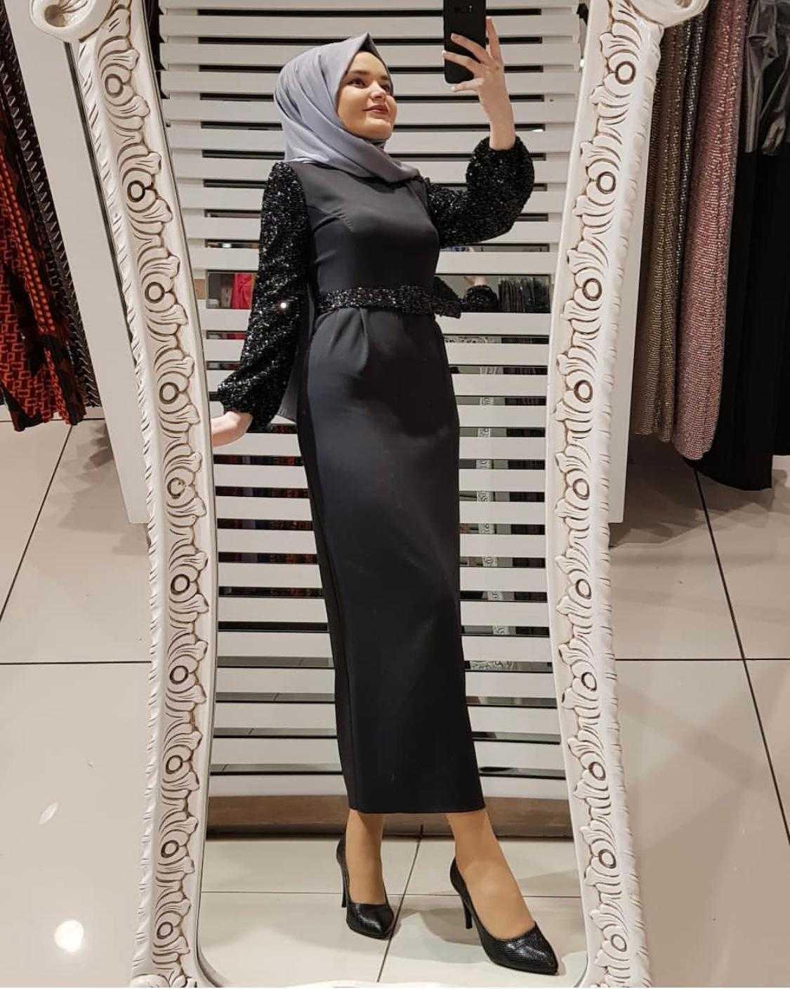 Pullu Tesettür Elbise Modelleri
