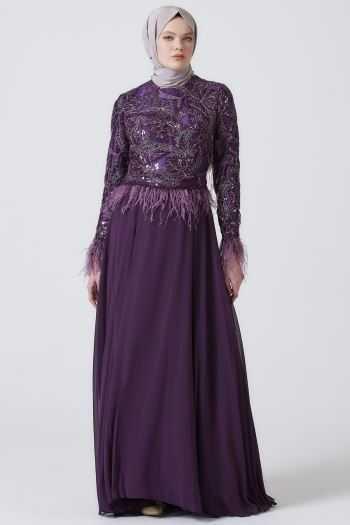 En Şık Armine Tesettür Abiye Elbise Modelleri
